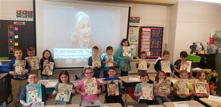 "Students in Mrs. Hausrath's Class ""Chat"" with Jane Goodall!"