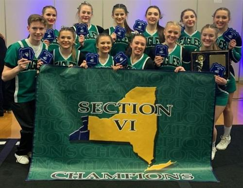 CoEd Varsity Cheer Team Named Section VI Champions