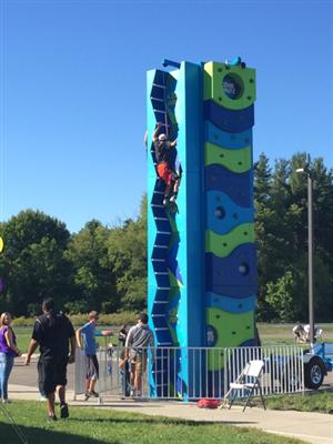 Rock Wall at Back to School Bash